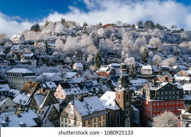 Winter afternoon in Monschau, Germany