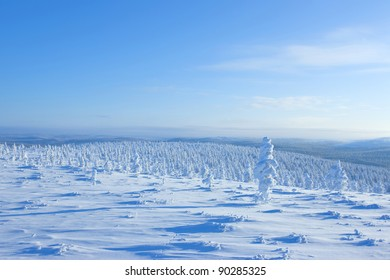 In winter the air in Finland, and a lot of snow