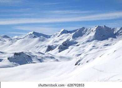 Winter in Alps (Tignes, France)