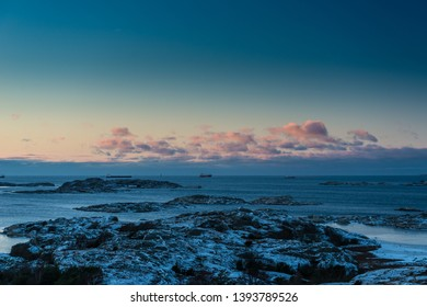 Winter in the archipelago outside Gothenburg.