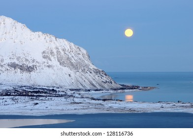 Winter in the arctic, Lofoten Norway