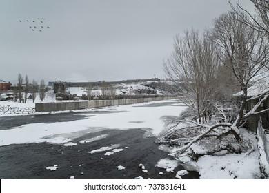 Winter in Ardahan , Turkey