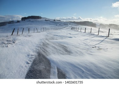 Winter in Aubrac, Occitanie, France