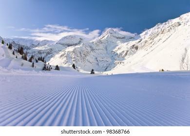 Winter Austrian landscape