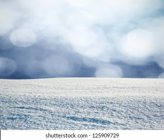 Winter background in snow
