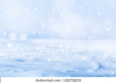 Winter background with snow. Christmas and New Year holidays background