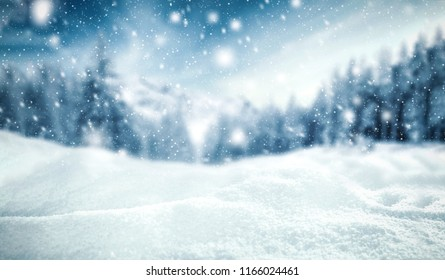 Winter background of snow and frost with free space for your decoration.  - Shutterstock ID 1166024461