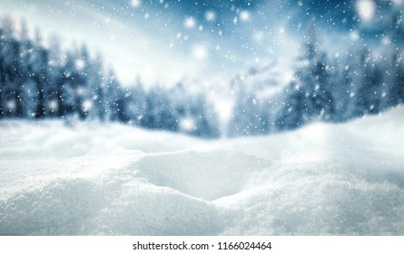 Winter background of snow and frost with free space for your decoration.  - Shutterstock ID 1166024464
