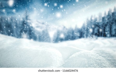 Winter background of snow and frost with free space for your decoration.  - Shutterstock ID 1166024476