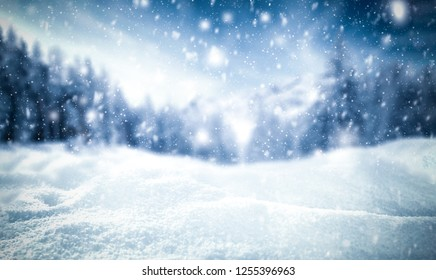 Winter background of snow and frost with free space for your decoration  - Shutterstock ID 1255396963