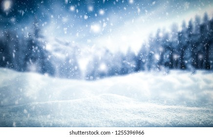 Winter background of snow and frost with free space for your decoration  - Shutterstock ID 1255396966