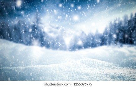 Winter background of snow and frost with free space for your decoration  - Shutterstock ID 1255396975