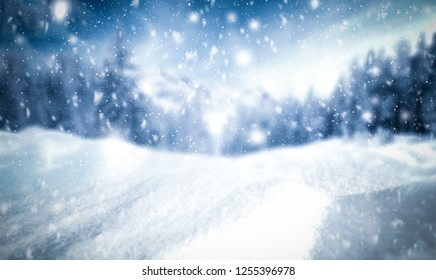 Winter background of snow and frost with free space for your decoration  - Shutterstock ID 1255396978