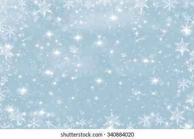 Winter background , snow, snowflakes