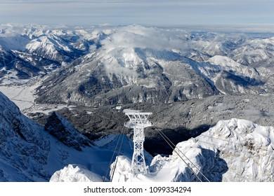 Winter in Bavaria - Zugspitze.Winter in Bayern - Zugspitze.