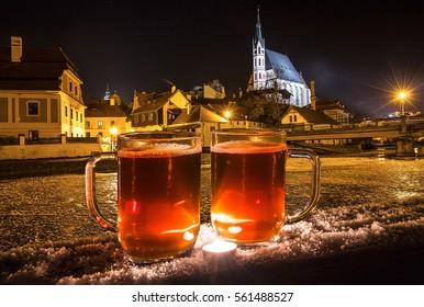 Winter beer in Cesky Krumlov