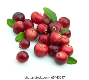 Winter berry. A ripe and juicy cranberry close up
