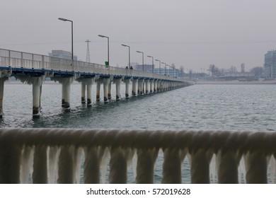 Winter at Black Sea. Constanta Romania. Little noise