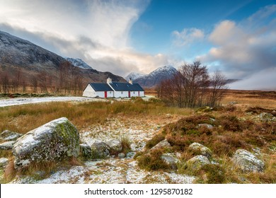 Winter at Blackrock Cottage at Glencoe with Buachaille Etive Mor in the background