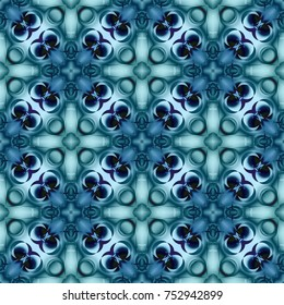 Winter blue pattern with snowflake, blue texture