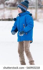 Winter boy portrait