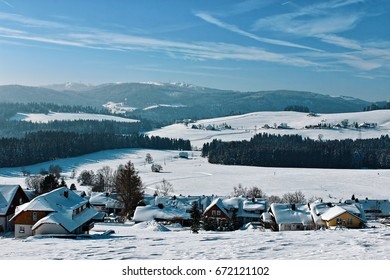 Winter in Breitnau in the Black Forest, Germany
