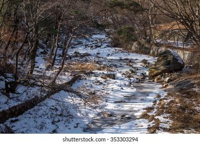Winter in Bukhansan National Park, Seoul, South Korea