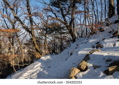Winter in Bukhansan National Park, Seoul, South Korea