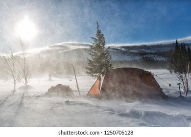 Winter Camp in a Blizzard