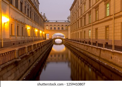 Winter canal. Saint-Petersburg. Russia