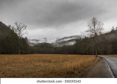 Winter, Cataloochee Valley, Great Smoky Mountains National Park, North Carolina