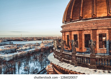 Winter cathedral in Saint-Petersburg
