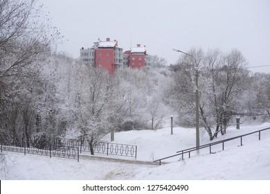 winter in Chehov city in Russia