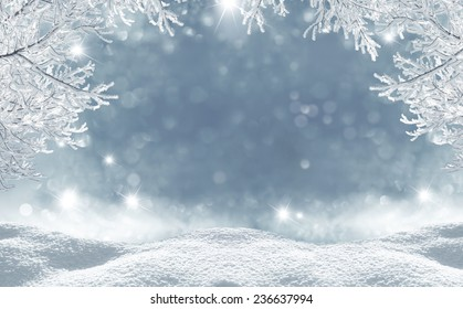 winter  christmas background - Shutterstock ID 236637994