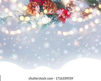 christmas background images stock photos vectors shutterstock https www shutterstock com image photo winter christmas background snow fir branches 1716339559