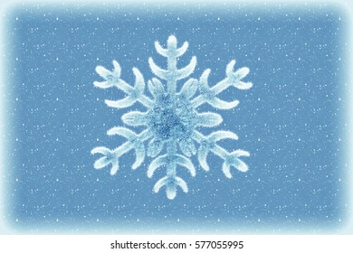 Winter and Christmas background with snowflake
