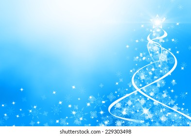 Winter christmas background with snowflakes