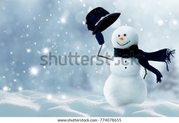Winter Christmas Backgroundmerry Christmas Happy New Stock