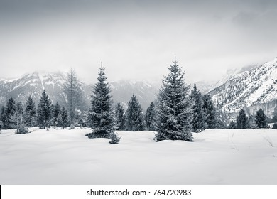 Winter Christmas mood in Val di Fassa, Dolomites, Italy
