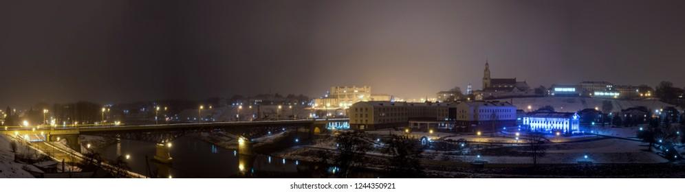 Winter city Grodno, Belarus