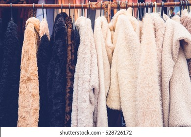 Winter clothing in a shop