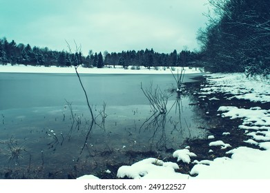 Winter cold lake