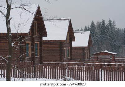 Winter country vacation in a cottage.