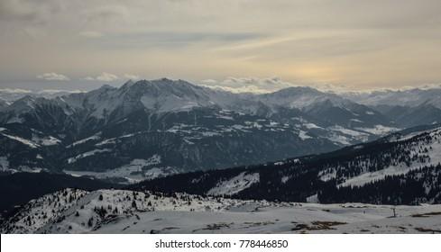 Winter day in Alps, Flims, Switzerland