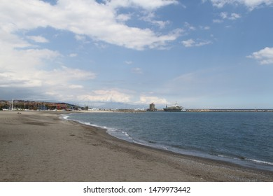 winter day on the beach in sotogrande