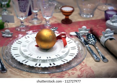 winter decoration of party table