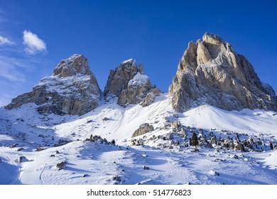 Winter in dolomites
