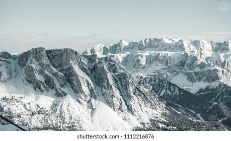 Winter in the Dolomites mountain, Italy
