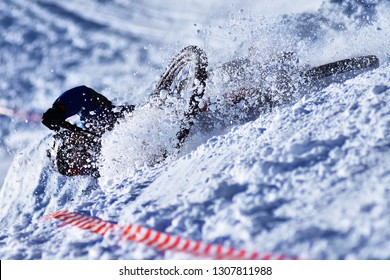 Winter Downhill DH mountain biking