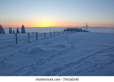 Winter dream on a mountain